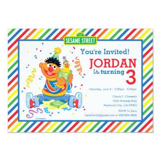 Ernie rayó cumpleaños invitación 12,7 x 17,8 cm