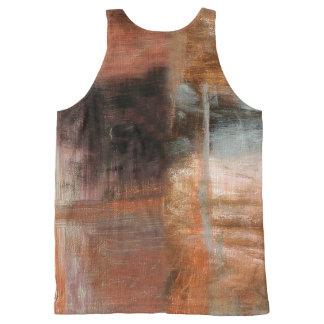 Erosión Camiseta De Tirantes Con Estampado Integral