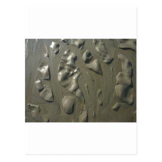 Erosión de agua de la playa tarjetas postales