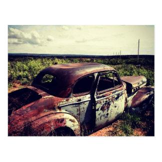 erosión del cupé de Chevrolet de los años 40 en el Postal