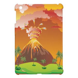 Erupción 2 del volcán del dibujo animado