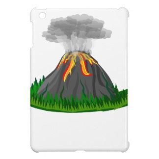 erupción y fuego del volcán