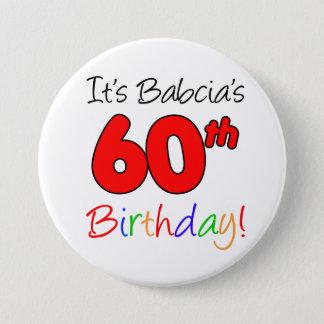 Es 60.a diversión del cumpleaños de Babcia, botón