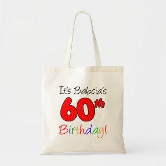 Es 60.a diversión del cumpleaños de Babcia y tote Bolso De Tela