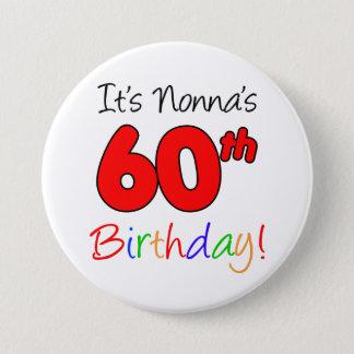 Es 60.a diversión del cumpleaños de Nonna y botón