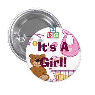 """""""Es botón de un chica"""" Pins"""