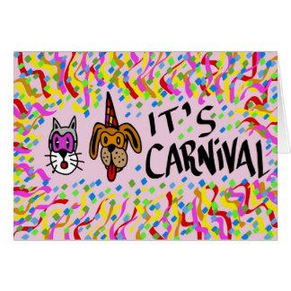 Es carnaval tarjeta de felicitación