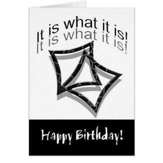 Es cuáles es (tarjeta de cumpleaños - el humor) tarjeta de felicitación
