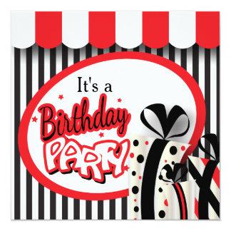 Es cumpleaños de la fiesta de cumpleaños un 80.o invitación 13,3 cm x 13,3cm