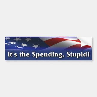 ¡Es el gasto, estúpido! - Obama anti Pegatina Para Coche