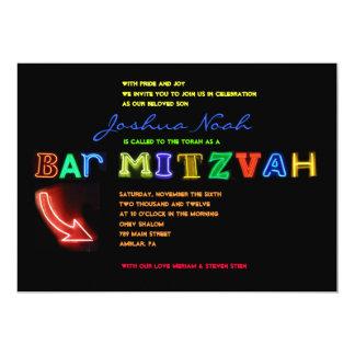 ¡Es ELÉCTRICO!  Invitación de Mitzvah de la barra