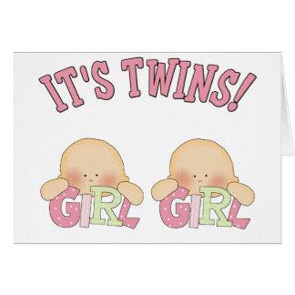 ¡Es gemelos! (CHICA DEL CHICA) Tarjeta De Felicitación