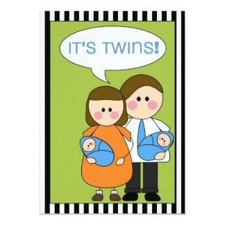 ¡es gemelos! invitación (de los muchachos)