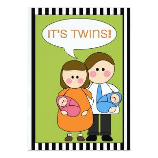 ¡es gemelos! (muchacho/chica) invitación