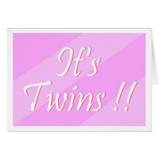 ¡Es gemelos!! Tarjeta (de los chicas)