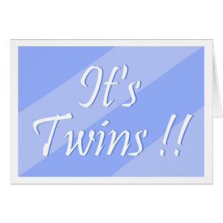 ¡Es gemelos!! Tarjeta (de los muchachos)