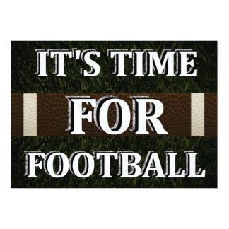 Es hora para la invitación del fútbol