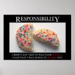 Es hora para que usted tome la responsabilidad (s) poster