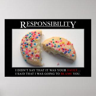 Es hora para que usted tome la responsabilidad (s) póster