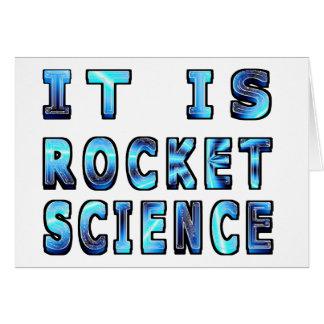 Es ingeniería espacial en 3D Tarjeta