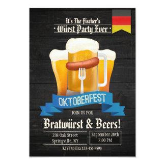 Es invitación del tiempo de Oktoberfest