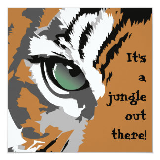Es invitaciones de un tigre de la selva