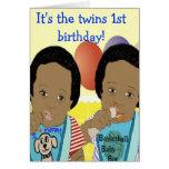 Es la 1ra tarjeta de cumpleaños de los gemelos