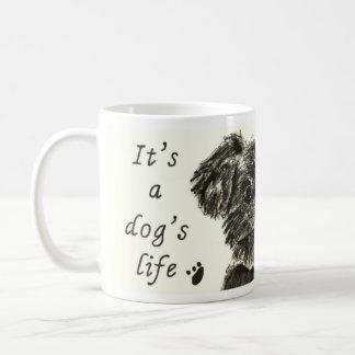 Es la vida de un perro, perro lindo taza de café