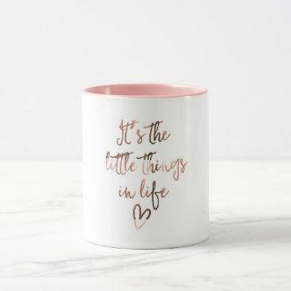 """""""Es las pequeñas cosas en taza de café de la vida"""""""