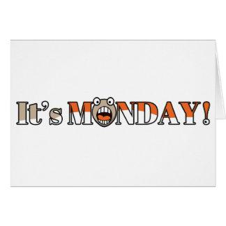 ¡Es lunes! Tarjeta De Felicitación