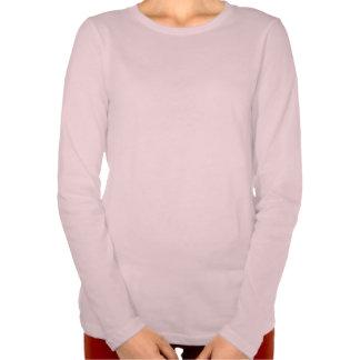 Es manga larga del ajuste cómodo de mis mujeres camiseta