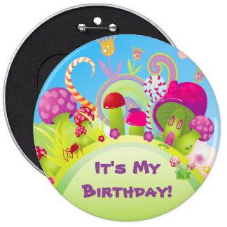 ¡Es mi cumpleaños! Chapa Redonda De 15 Cm