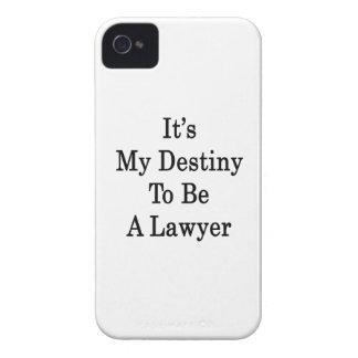 Es mi destino a ser abogado Case-Mate iPhone 4 funda