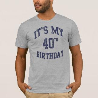 Es mis 40.as camisetas del cumpleaños