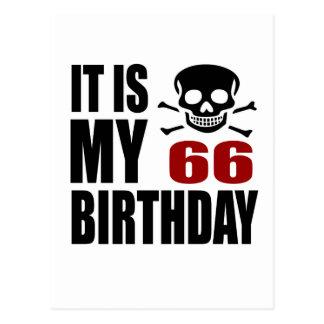 Es mis 66 diseños del cumpleaños postal