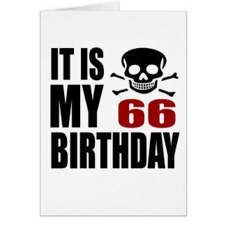 Es mis 66 diseños del cumpleaños tarjeta