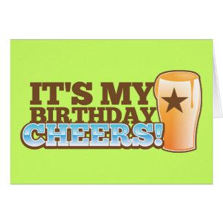 ¡Es mis ALEGRÍAS del cumpleaños! ¡cervezas! Felicitacion