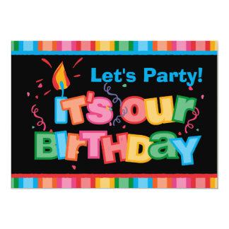 Es nuestras letras del cumpleaños invitación 12,7 x 17,8 cm