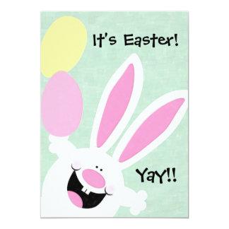 ¡Es Pascua! ¡Yay! Invitación de la caza del huevo