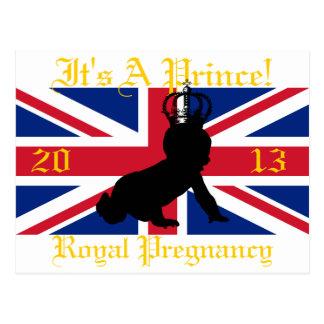 ¡Es príncipe! Postal real 2013 del embarazo