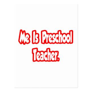 Es profesor preescolar postal