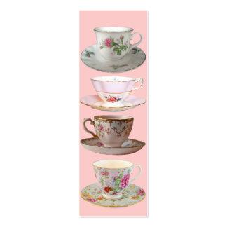 Es señales del tiempo del té plantilla de tarjeta de visita