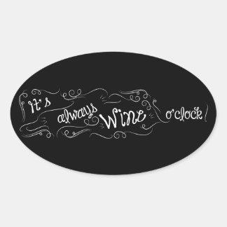 Es siempre pegatina del en punto del vino