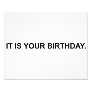 Es su cumpleaños folleto 11,4 x 14,2 cm