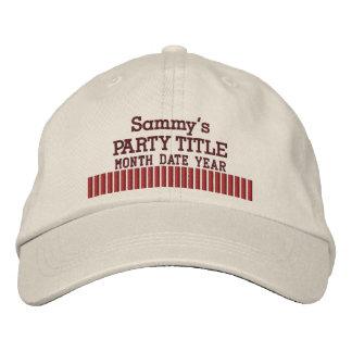 Es su estilo personalizado de las palomitas del go gorras de béisbol bordadas