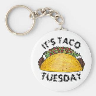 Es Tacos duro de Shell de la comida mexicana de Llavero