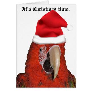 Es tarjeta de felicitación del tiempo del navidad