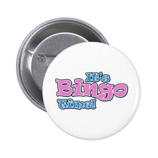 Es tiempo del bingo chapa redonda de 5 cm