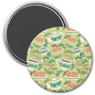 Es tiempo del té imán redondo 7 cm