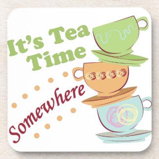 Es tiempo del té posavasos de bebida
